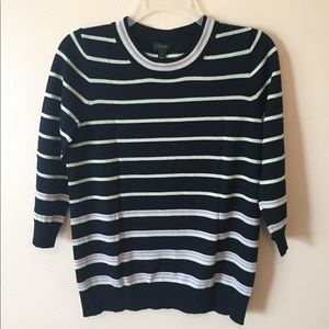 NWOT J. Crew striped crew neck sweater